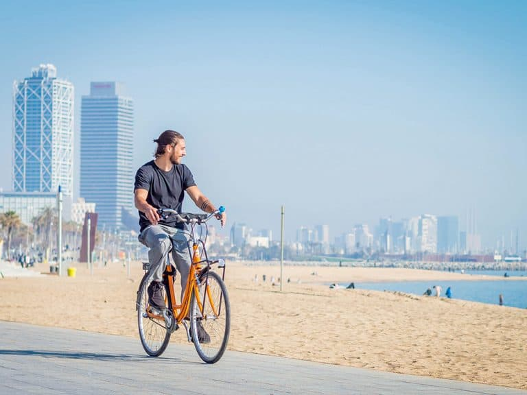 Cycling in Diagonal Mar & Poblenou