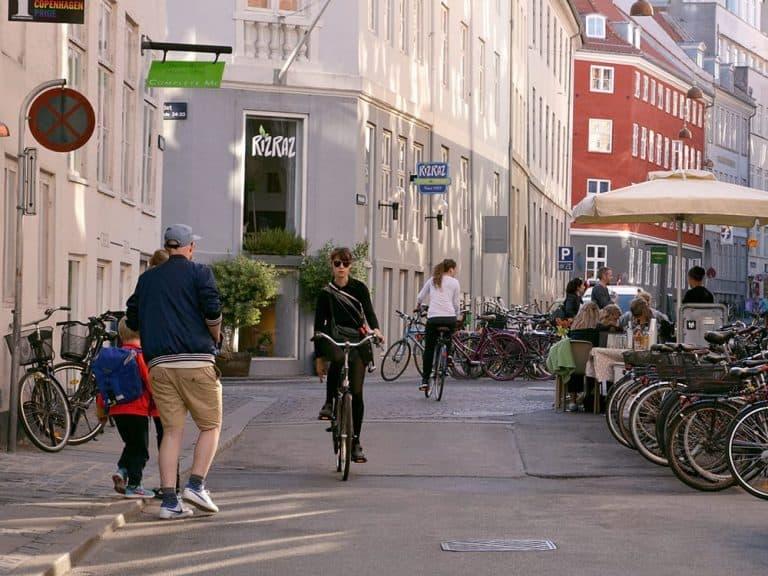 Cycling in Copenhagen city centre