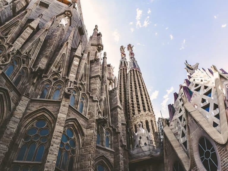 Cycling around Sagrada Familia