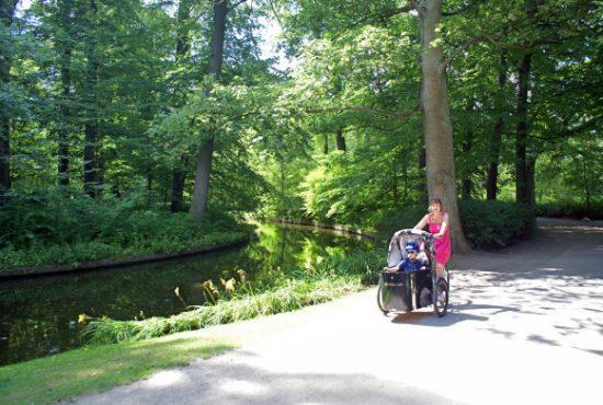 Melanie and her bike