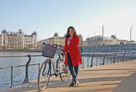 Sarita and her bike