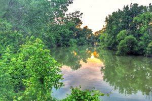 Mills Creek view at sunset