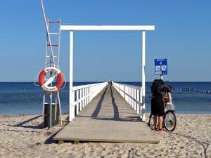 Biking to the seaside