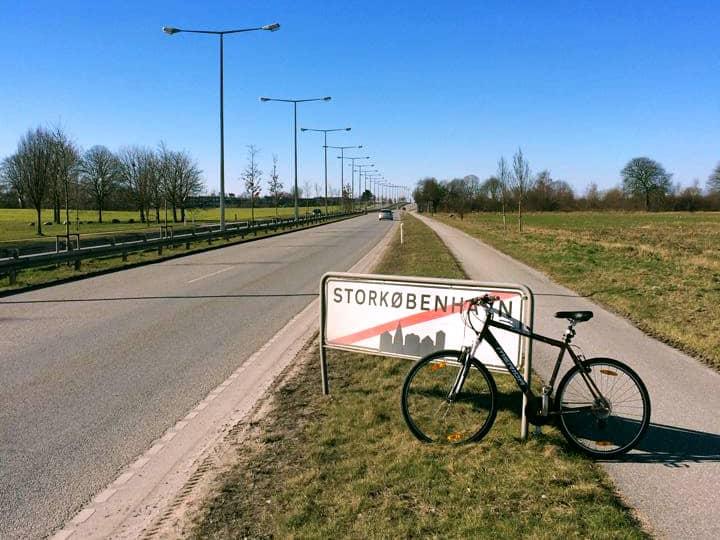 Biking outside of Copenhagen