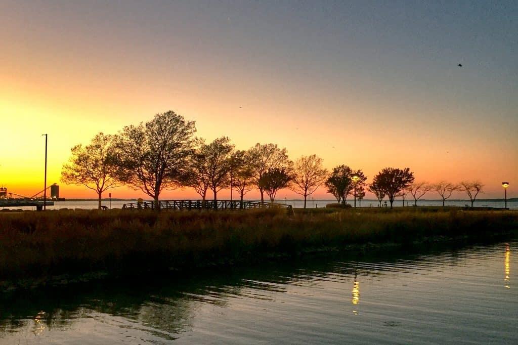 Sunset over Shoreline Park