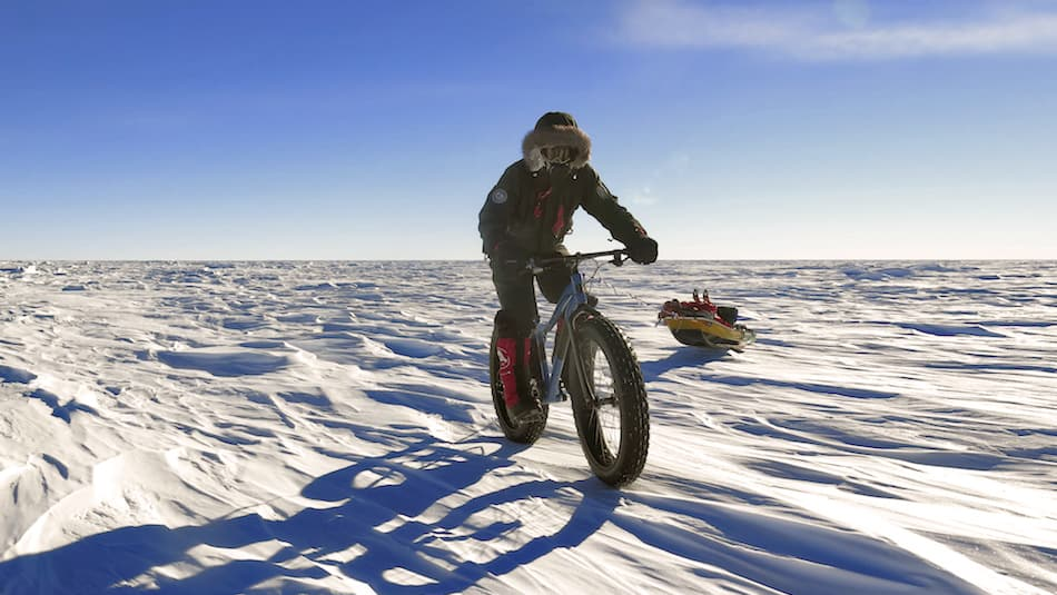 Cycling at the South Pole