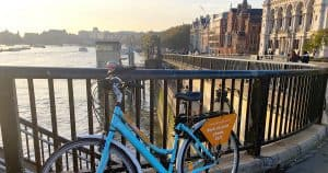 Bicycle in London by the River Thames