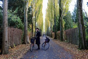 Cycling through Assistens Kirkegaard with Guide Catch and Donkey Republic