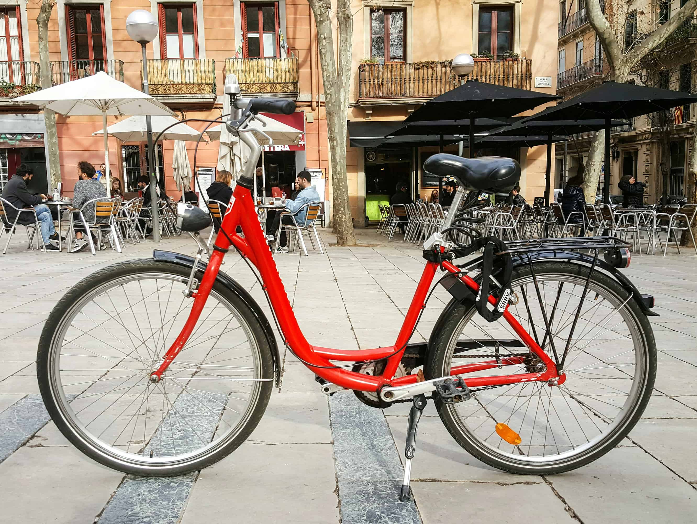 Barcelona barrios - A bike in Placa Virreina in Gracia