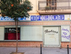 The beaches in Barcelona - Balius Bar in El Poblenou