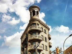 The beaches in Barcelona - a building in El Poblenou
