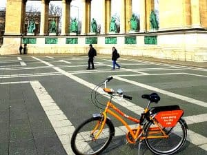 budapest bike tour andrassy heroes square