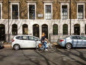 Cycling around hidden London, at Trinity Square Church
