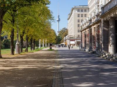 Cycling around Alexanderplatz