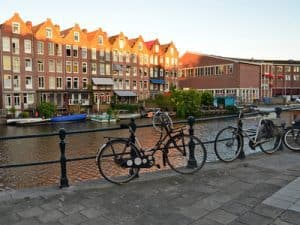 Cycling Jordaan Amsterdam