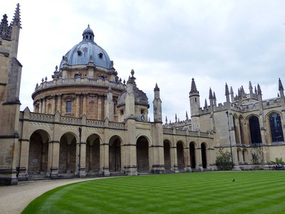 Cycling around the Bodleian Library
