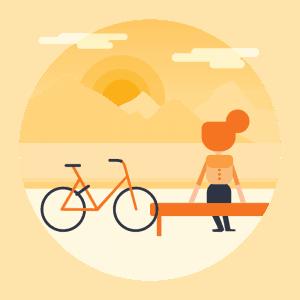 Taking breaks with your rental bike
