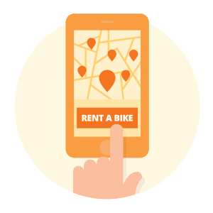 Rent a bike Donkey Republic app