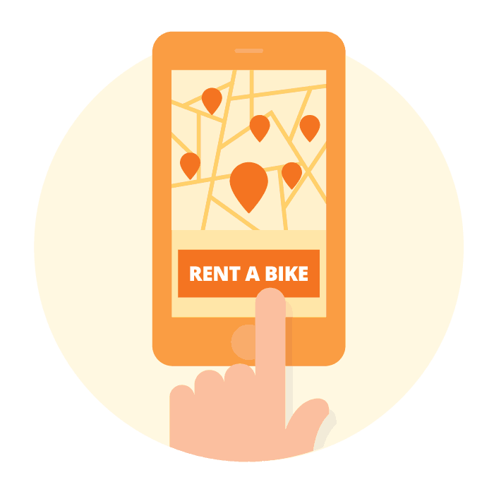 Rent a bike in a few clicks