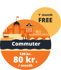Commuter bike share membership Copenhagen