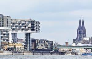 Cologne architecture cranes