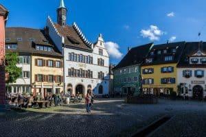 Breisgau town centre colourful facades