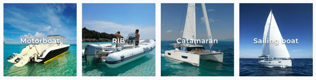 Boat types Samboat style options