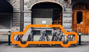 Bike parking over car parking