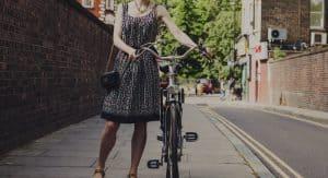 girl bike dress