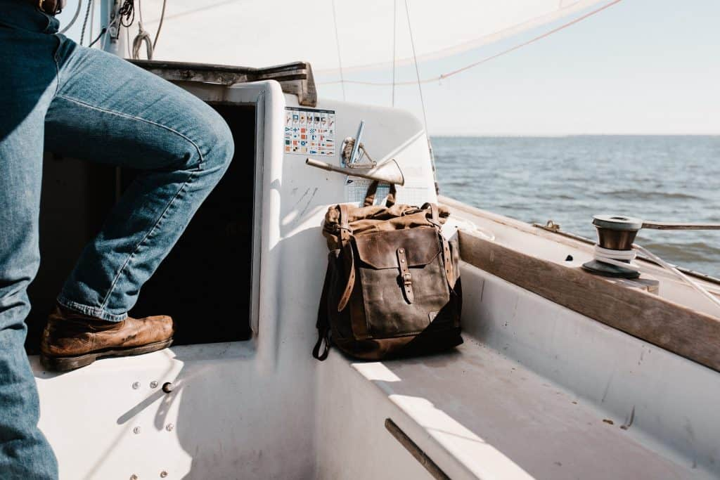 Sailing boat man bag backpack