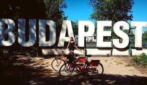 Budapest sign bikes Donkey Republic