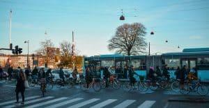 Copenhagen transport scene