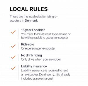 Donkey Republic E-scooter rules