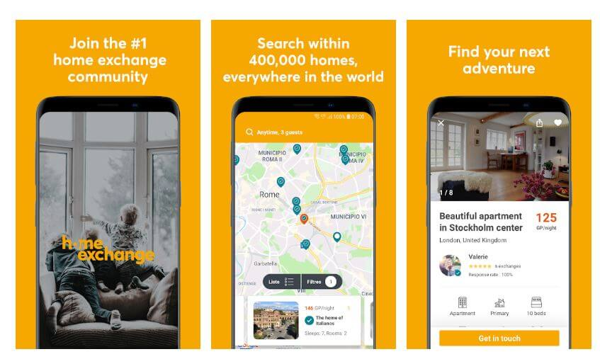 best travel app - homeexchange